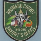 Broward County Sheriff Florida 100th Anniversary Police Patch