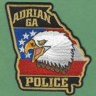 Adrian Georgia Police Patch