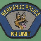 Hernando Mississippi Police K-9 Unit Patch