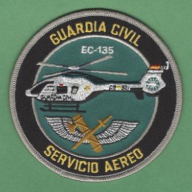 Spain Guardia Civil Servicio Aereo EC-135 Helicopter Police Patch