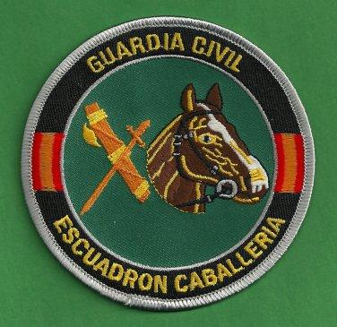 Spain Guardia Civil Escuadron Cabelleria Police Mounted Patrol Patch