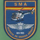 Spain National Police SMA BO-105 Helicopter Patch