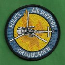 Graubuden Switzerland Police Air Support Helicopter Patch