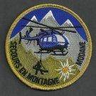 Modane France Secours en Montagne Rescue Helicopter Patch