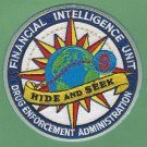 DEA Drug Enforcement Administration Financial Intelligence Unit Patch