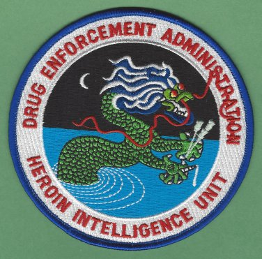 DEA Drug Enforcement Administration Heroin Intelligence Unit Patch