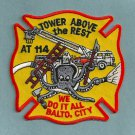 Baltimore City Fire Department Aerial Tower Company 114 Fire Patch