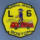Boston Fire Department Ladder Company 6 Patch
