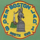 Boston Fire Department Engine 8 Ladder 1 Fire Company Patch