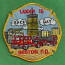 Boston Fire Department Ladder Company 15 Patch