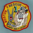 Boston Fire Department Rescue Company 1 Patch