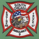 Chicago Fire Department Engine 46 Truck 17 Fire Company Patch