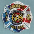 Chicago Fire Department Engine Company 68 Fire Patch