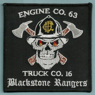 Chicago Fire Department Engine 63 Truck 16 Fire Company Patch