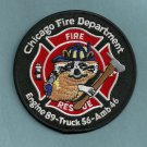 Chicago Fire Department Engine 89 Truck 56 Fire Company Patch