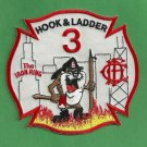 Chicago Fire Department Hook & Ladder Company 3 Patch