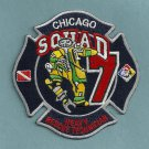 Chicago Fire Department Squad Company 7 Fire Patch
