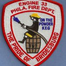 Philadelphia Fire Department Engine Company 33 Patch
