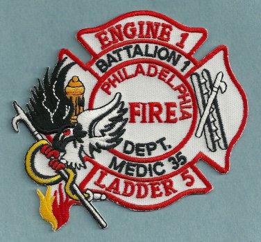 Philadelphia Fire Department Engine 1 Ladder 5 Company Patch