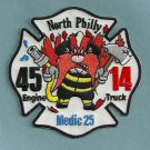 Philadelphia Fire Department Engine 45 Ladder1 4 Company Patch