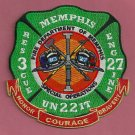 Memphis Fire Department Engine 27 Rescue 3 Company Patch