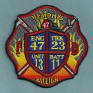 Memphis Fire Department Engine 47 Truck 23 Company Patch