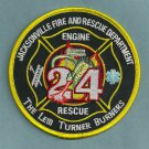 Jacksonville Fire Department Engine 24 Rescue 24 Company Patch