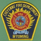 Cheyenne Wyoming Fire Patch