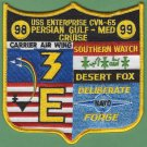 CVN-65 USS ENTERPRISE 98-99 PERSIAN GULF-MED CRUISE PATCH