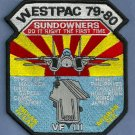 VF-111 CV-63 USS KITTY HAWK WESTPAC 1979-1980 SUNDOWNERS PATCH