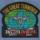 CV-63 USS KITTY HAWK CV-62 USS INDEPENDENCE GREAT TURNOVER CRUISE PATCH