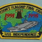 CVN-62 USS INDEPENDENCE 1991-1998 WESTPAC PATCH