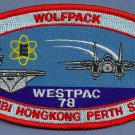 CVN-65 USS ENTERPRISE WESTPAC 1998 WOLFPACK CRUISE PATCH