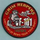 VF-101 GRIM REAPERS FIGHTER SQUADRON 2004 DEMO TEAM TOUR PATCH