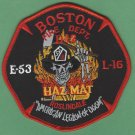 Boston Fire Department Engine 53 Ladder 16 HAZ MAT Fire Company Patch