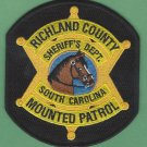 Richland County Sheriff South Carolina Mounted Patrol Police Patch