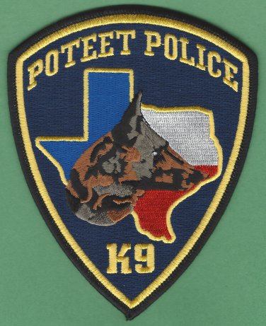 Poteet Texas Police K-9 Unit Patch