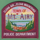 Mount Airy Georgia Police Patch