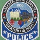 Wagener South Carolina Police Patch