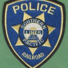 Southern Pacific Lines Railroad Police Patch
