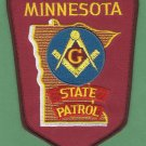 Minnesota State Patrol Masonic Lodge Police Patch