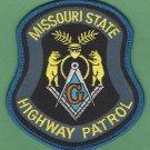 Missouri State Police Masonic Lodge Patch