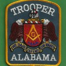 Alabama State Trooper Masonic Lodge Police Patch