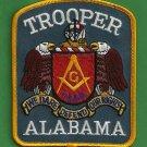 Alabama State Trooper Masonic Lodge Police Patch