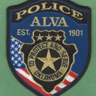 Alva Oklahoma Police Patch