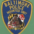 Baltimore City Maryland Police Mounted Patrol Unit Patch