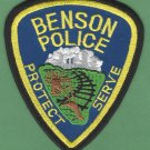 Benson Minnesota Police Patch