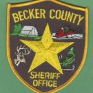 Becker County Sheriff Minnesota Police Patch