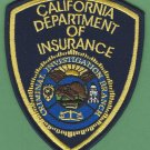 California State Department of Insurance Investigation Police Patch