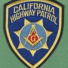 California Highway Patrol Masonic Lodge Police Patch